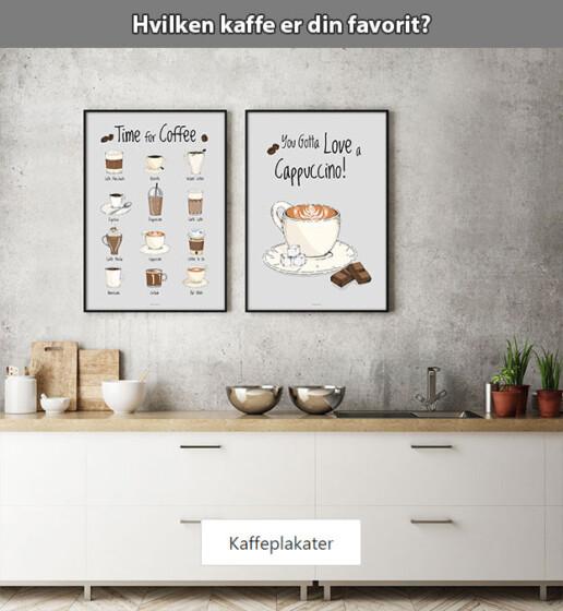 Unikke kaffeplakater